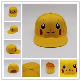 Wholesale Elf Hats - Poke Mon Go Caps Adjustable Pocket Monster Embroidery Hats Casual Poke Mon Pikachu Baseball Caps Elves Hats 10 pcs