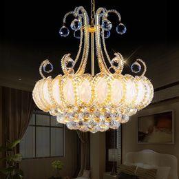 богемная гостиная Скидка Роскошные старинные K9 хрустальная люстра традиционная золотая люстра освещение чешский хрустальная люстра подвесные светильники для гостиничной гостиной