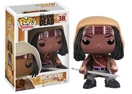 Wholesale Vinyl Boxes - Funko POP The Walking Dead Michonne Vinyl Figure Model with gift box