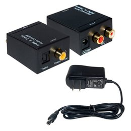 Wholesale Digital Toslink Rca - Analog L R to Digital SPDIF Coaxial Coax RCA & Optical Toslink Audio Con to Digital SPDIF Coaxial Coax RCA & Optical Toslink Audio Converter