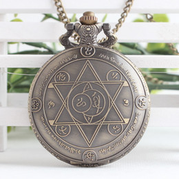 Wholesale Necklaces Anime - Fullmetal Alchemist anime cosplay pocket watch necklace pendant