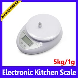 Wholesale Digital Electronic Platform Scales - wholesale Digital Kitchen Scales 5KG with Platform Hot Sale Item Cooking Tools electronic weighing scales 50pcs lot free shipping