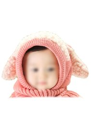 Wholesale Crochet Puppy Hats - Wholesale-10x Lovely Baby Girl Boy Knitted Crochet Winter Hats Puppy Dog Beanie Caps Pink