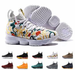 Wholesale Top High Cut Sneakers - 2017 New Lebron 15 Basketball Shoes LBJ Sneakers James 15s High Top Zip Mens Soldier Casual Shoes For Men size 7-12