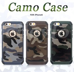 Wholesale Pc Impact - Army Camo Case Luxury Camouflage Hybird Armor Shockproof Impact 2 in 1 PC & TPU Cover For iPhone 6 7 Plus Galaxy S7 Edge