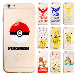 Wholesale Cartoon Painting Games - For iPhone 6 6S Plus Mobile Game poke Go Poke Ball Cartoon Painting Cute soft TPU cover for iPhone 6 6s