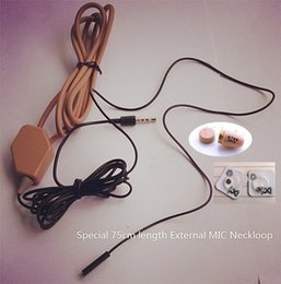 Wholesale External Lg - 2017 New High Quality Full sets covert wireless Earpiece With Loopset Neckloop 2x batteries GSM Earphone Earbud External MIC