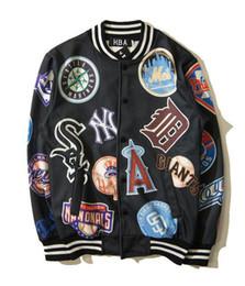 Wholesale College Outerwear - Hip Hop HBA Clothes Men€s Casual Baseball New York Sport College Hoodies Sweatshirts Jackets Letterman Harajuku Outerwear Coats