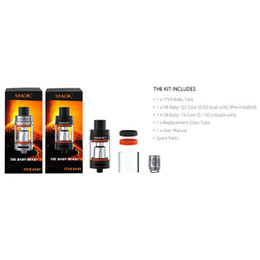 Wholesale Smoke Refill - Newest SMOK TFV8 Baby Tank Atomizer 3ml mini size Adjustable airflow system Top refill system Turbo engines Big Smoke DHL free