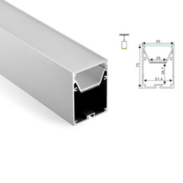 Wholesale Pendant Mounts Settings - 50 X 1M sets lot Surface mounted led aluminium profile and 6063 big alu channel with curved parts for ceiling pendant lights
