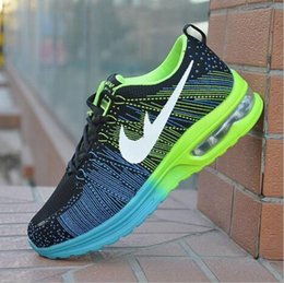 Wholesale New Line Fabrics - 2016 new Full charge of air men and women fly line rainbow jogging shoes. Fashion men's outdoor professional sports shoes, casual shoes