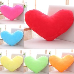 Wholesale Hearts Plush Toy - 107 HANCHENTE Colorful 50*40cm Plush Heart Shaped Pillow Red Heart Cushion Stuffed Heart Toy Pink Yellow Purple Home Bed Couch Sofa Decor