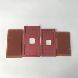 Pantalla táctil lcd pad online-Alineación precisa del marco de la pantalla táctil LCD y laminación del molde del molde de metal con el cojín de goma para el iPhone 8 8G 8 más
