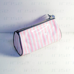Wholesale Drum Gifts - Famous brand cosmetic case luxury makeup organizer bag beauty toiletry pouch drum clutch purse strip tote logo boutique VIP gift wholesale