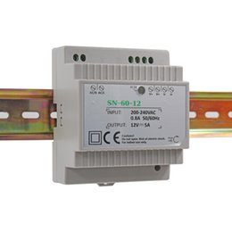 Wholesale Power Supply Din - AC 230V to DC 60W 12V 5Amp Din-Rail Switching Power Supply Transformer Unit for Industrial and Residential Applications CE RoHS approved