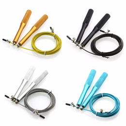 Wholesale Wholesale Skipping Ropes - Wholesale-Metal Boxing Gym Jumping Speed Exercise Fitness Crossfit Jump Gym Skipping Rope