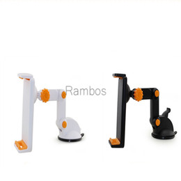 Wholesale Tablet Gps Ipad - Universal Dashboard Car Mount Phone Holder Sticky Suction Cup Tablet Mounting Bracket for iPad 4 5 6 Mini 4 GPS 9.7 Inch