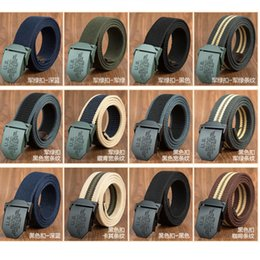 Wholesale World War Ii Military - Belts For Men Us World War Ii Outdoor Military Thick Cotton Webbing Strap Mens Designer Belts Luxury High Quality Belts For Men And Women