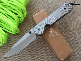 Wholesale Chris Reeves Knifes - Hot Sale Chris Reeve Folding D2 Blade Tactical Knife Survival Hunting Knives Titanium Alloy Handle Outdoor Hiking Knives 4L