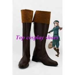 Wholesale Axis Accessories - Wholesale-Freeshipping custom-made anime APH Axis Powers Hetalia Elizaveta Hungary Cosplay Boots shoes Halloween Christmas festival