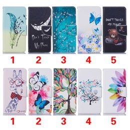 Wholesale Dhl Wallet Purse Kickstand - PU Leather Case for Samsung Galaxy Note 7 Colored Drawing Pattern With TPU Stand Wallet Credit Card Stand Holder Pocket Purse Free DHL
