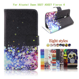 Wholesale Top High Fashion Wholesale - For Alcatel Dawn 5027 A5027 Top fashion high quality new Flip PU Leather pouch Wallet Case Cover