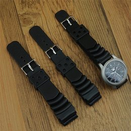 Wholesale Replacement Buckles - New Replacement Rubber Diver Watch Strap silicone Band for S11 SKX171 173KX779 781DAL1BP 22mm 20mm 18mm