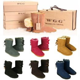 Wholesale Girls White Heels - 2017 AAA+ Quality WGG Women's Australia Classic tall Boots Women girl boots Boot Snow Winter boots leather shoes US SIZE 5--10