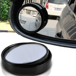 Wholesale Small Adjustable Mirrors - Wholesale-Small Round Mirror Car Rearview Mirror Blind Spot Wide-angle Lens 360 Degree Rotation Adjustable Angle Car Accessories