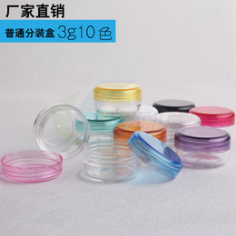 Wholesale Mini Plastic Containers Lids - 3g Cosmetic Jars Delicate Cosmetic Containers Mini Sample Box PS Jars With Lids Cream Bottles of eye creams