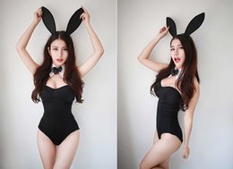 Wholesale Girls Underwear Sex - Wholesale-Hot Sexy 3PCS Set Catwoman Bunny Uniforms Temptation Suit Bunny Sexy Lingerie Costumes Sex Toy Underwear COSPLAY Bunny Girl 28