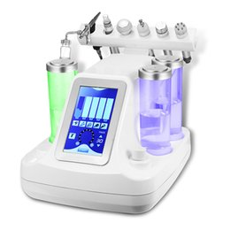 Wholesale Dermabrasion Rf - 6 in 1 hydra facial water dermabrasion bio cavition rf cold hammer oxygen facial deep cleansing Oxygen jet Peeling machine