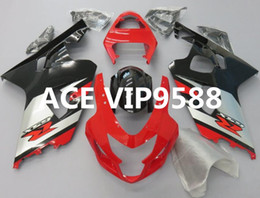 Wholesale gsxr abs motorcycle fairing - 3 gifts Motorcycle Fairing kit for SUZUKI GSXR600 750 K4 04 05 GSXR 600 GSXR 750 2004 2005 Motorcycle Fairings set ABS Black Red PA1