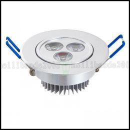 Wholesale 3w Power Led Spot Lamp - 3W Power LED Recessed Ceiling Down Bulb Spot Cool White Light Lamp 85-265V LLWA220