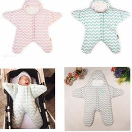 Wholesale Wholesale Clothing Wraps - Baby Sleeping Bags INS Starfish Swaddling Newborn Blankets Stroller Cart Swaddle Toddler Winter Wraps Nursery Bedding Sleep Sack KKA3489
