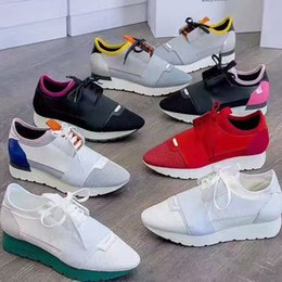 Wholesale C Colors - 2018 Unisex Run Man Woman Casual Shoes Fashion Good Quality Mixed Colors Low Cut Lace-up Zapatos Mujer Race Runner Shoes Outdoors