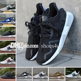 Wholesale Core Equipment - New EQT Cushion ADV Europe Exclusive 91-17 Mens Running shoes Core Black Blue white Women Equipment Outdoor Athletic sneaker size 36-45