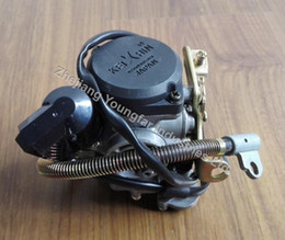 Wholesale Atv Carburetor - Carburetor KEIHIN PD18J 18mm with External Oil Drain Pipe for 4 stroke Scooter Moped ATV 139QMB GY6 50 60 80