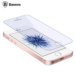 Wholesale Screen Protectors For Iphone 5c - Baseus Screen Protector Tempered Glass For iPhone 5s 5 5c se Ultra Thin Anti Blue Light Front Cover Protective Glass Film