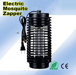 Wholesale Lanterns Flying - Wholesale 110V 220V Electric Mosquito Bug Zapper Killer LED Lantern Fly Catcher Flying Insect Patio Outdoor Camping lamps