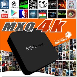 Wholesale Wholesale Nand - MXQ-4K Android TV Box RK3229 Quad Core 1GB DDRIII 8GB Nand Flash with WiFi 2.4GHz Support H.265 4K 60fps Streaming Media
