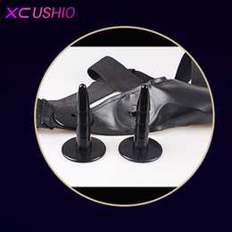 Wholesale Double Dildo Panties - Strap on Dildo Double Dong Elastic Harness Belt Panties Silicone Realistic Penis Dildos Lesbian Strapon Toys Sex Toys for Women 0701