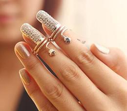 2019 bastoni di corrispondenza all'ingrosso Pop Twisted Pave Strass Finger Nail Anello punta Anelli gioielli per le donne Oro e argento Migliori regali