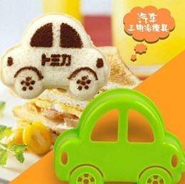 Wholesale Toasted Bread Cartoon - NEW Novelty Kitchen Diy Bread Tools Cartoon Little Car Mould Sandwich Molds Cake Cutter Toast for the mold free shipping HY896