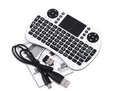Controladores pc online-Rii i8 Teclado Air Mouse Control remoto Touchpad Dispositivo portátil para TV BOX PC Laptop Tablet Raspberry Controlador PI con batería de litio