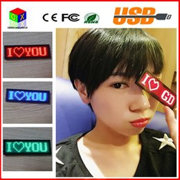 Wholesale Name Led - 48*12 Red LED SMD sign scrolling text message   name card tag display board advertising Rechargable programmable