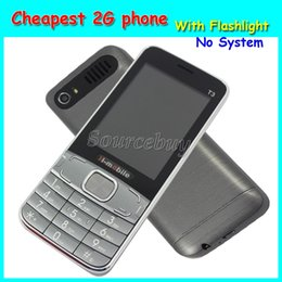 Wholesale Bluetooth Flashlight - Cheapest 2.8 inch 2G Unlocked Quad Band H-mobile T3 Mobile phone No System Back Camera Cell Phone with Flashlight Bluetooth Free Shipping