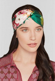 Wholesale Stretch Twist Headband - 2016 hot!!! Women Elastic Turban Twisted Knotted Headband Ethnic Floral Wide Stretch Hair Band Girl Yoga Hair Accessories