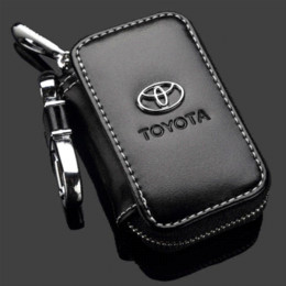 Wholesale Fiber Carbon Keys Case - high quality For Toyota RAV4 Camry Highlander Corolla Prado Yaris leather car key case ,key cover accessories