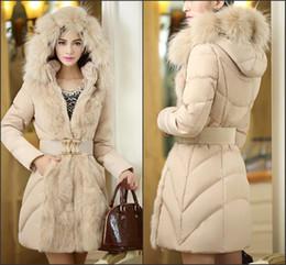 Wholesale Leather Hooded Down Jacket - New Fashion Women Luxury Style Winter Warm Leather Jacket 2018 Hot Sale Women's Faux Fur Parkas Winter Warm Outerwear FS3061